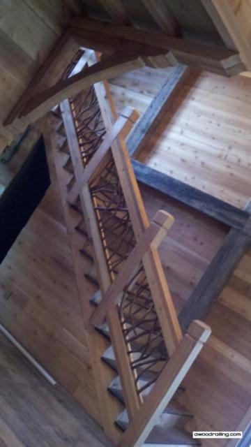 wood railing for stair